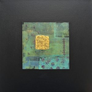 Picture of mixed media painting Daydream No. 6 by artist Heather Elliott