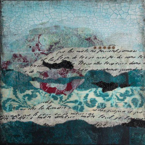 Shalom No. 1 Mixed Media Painting by artist Heather Elliott