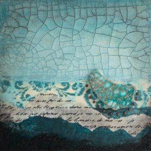 Shalom No. 2 Mixed Media Painting by artist Heather Elliott