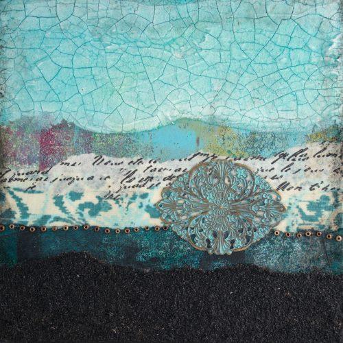 Shalom No. 3 Mixed Media Painting by artist Heather Elliott