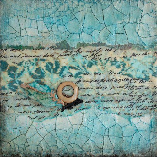 Shalom No. 4 Mixed Media Painting by artist Heather Elliott