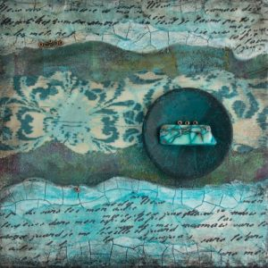 Shalom No. 6 Mixed Media Painting by artist Heather Elliott
