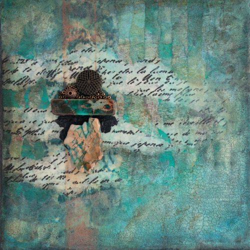 Shalom No. 8 Mixed Media Painting by artist Heather Elliott