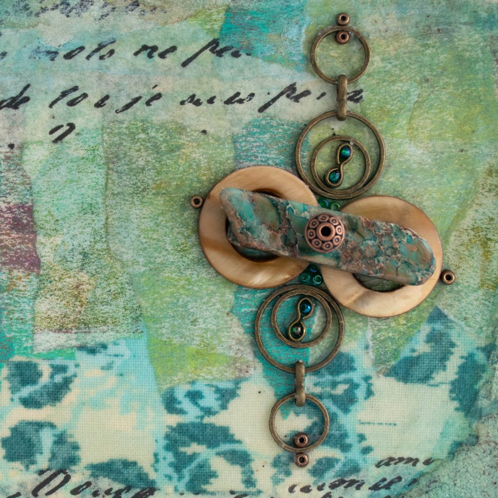 Detail of Shalom No. 9 Mixed Media Painting by artist Heather Elliott