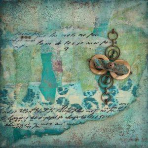 Shalom No. 9 Mixed Media Painting by artist Heather Elliott