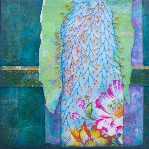 he Loved Flowers No. 4 Mixed Media Painting by artist Heather Elliott