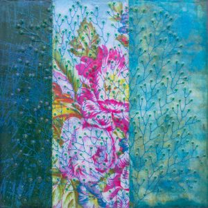 he Loved Flowers No. 6 Mixed Media Painting by artist Heather Elliott
