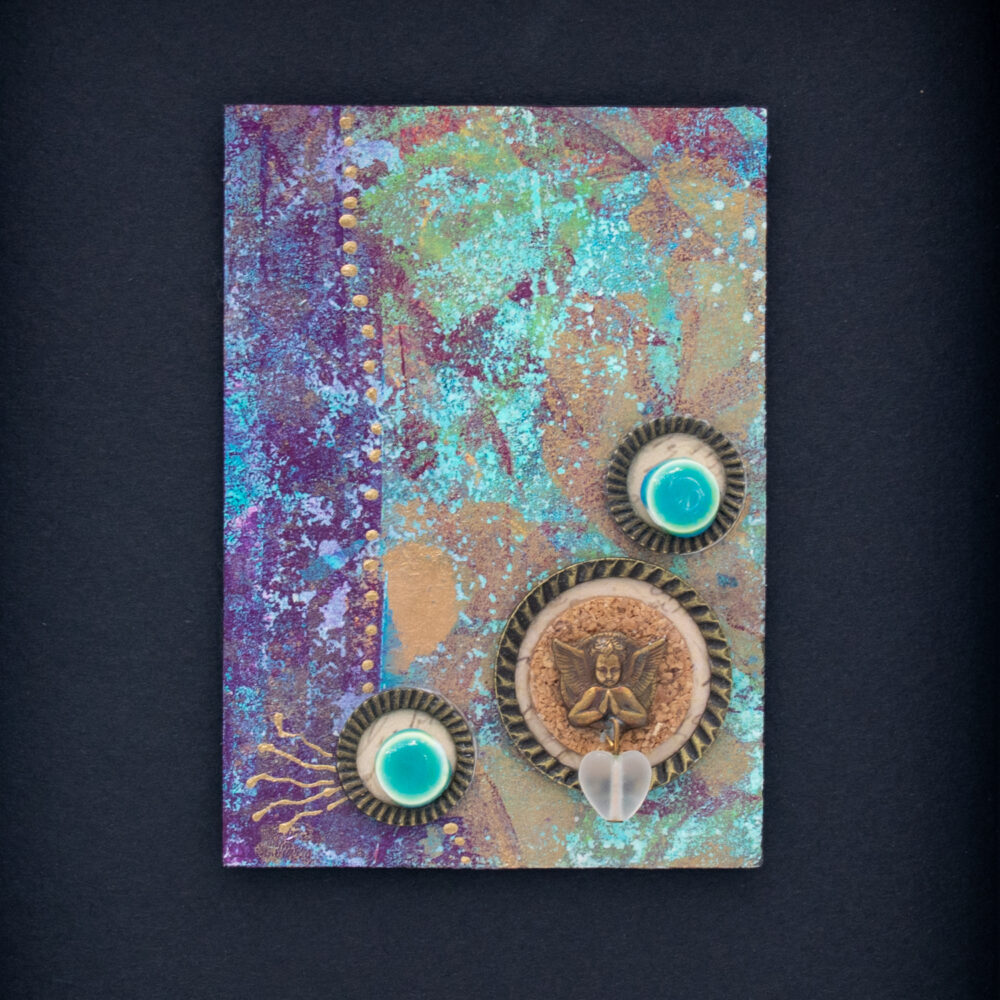 Dream Mini, No. 1 Acrylic and Mixed Media painting by artist Heather Elliott