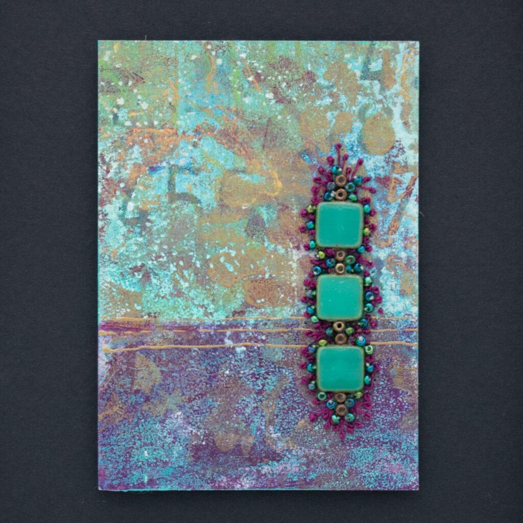 Dream Mini, No. 3 Acrylic and Mixed Media painting by artist Heather Elliott