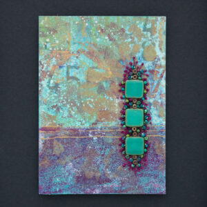 Dream Mini, No. 3 Acrylic and Mixed Media painting by artist Heather Elliott