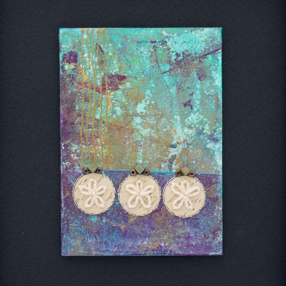 Dream Mini, No. 4 Acrylic and Mixed Media painting by artist Heather Elliott