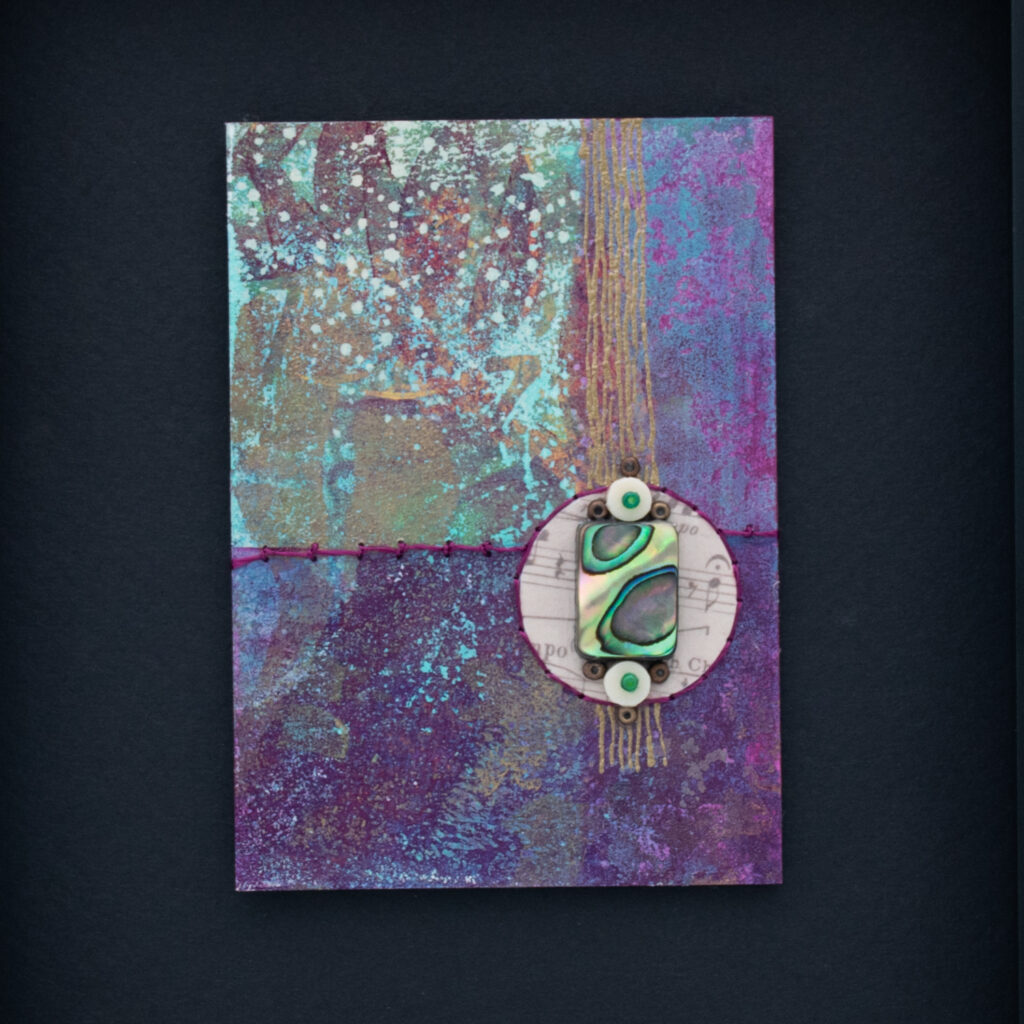 Dream Mini, No. 5 Acrylic and Mixed Media painting by artist Heather Elliott