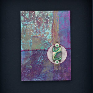 Dream Mini, No. 5 Acrylic and Mixed Media painting by artist Heather Elliott