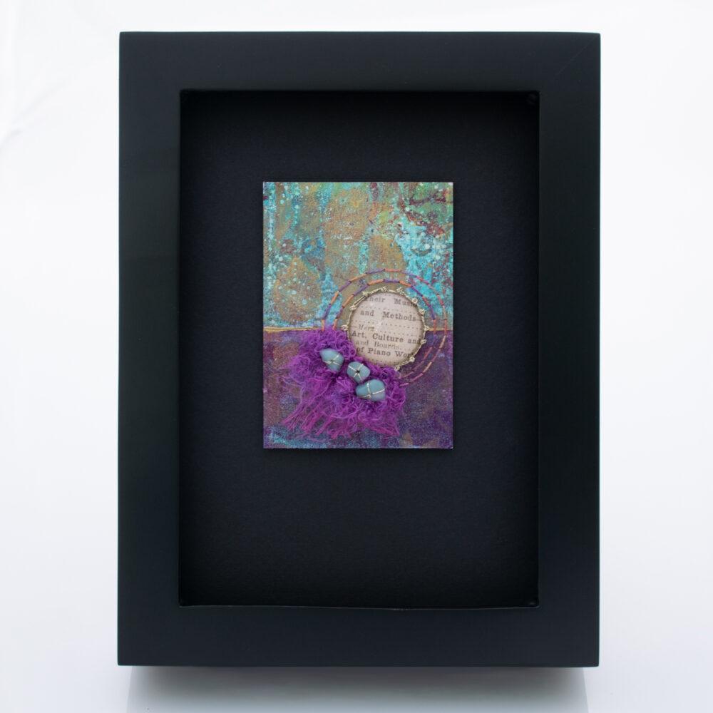 Dream Mini, No. 6 Acrylic and Mixed Media painting by artist Heather Elliott