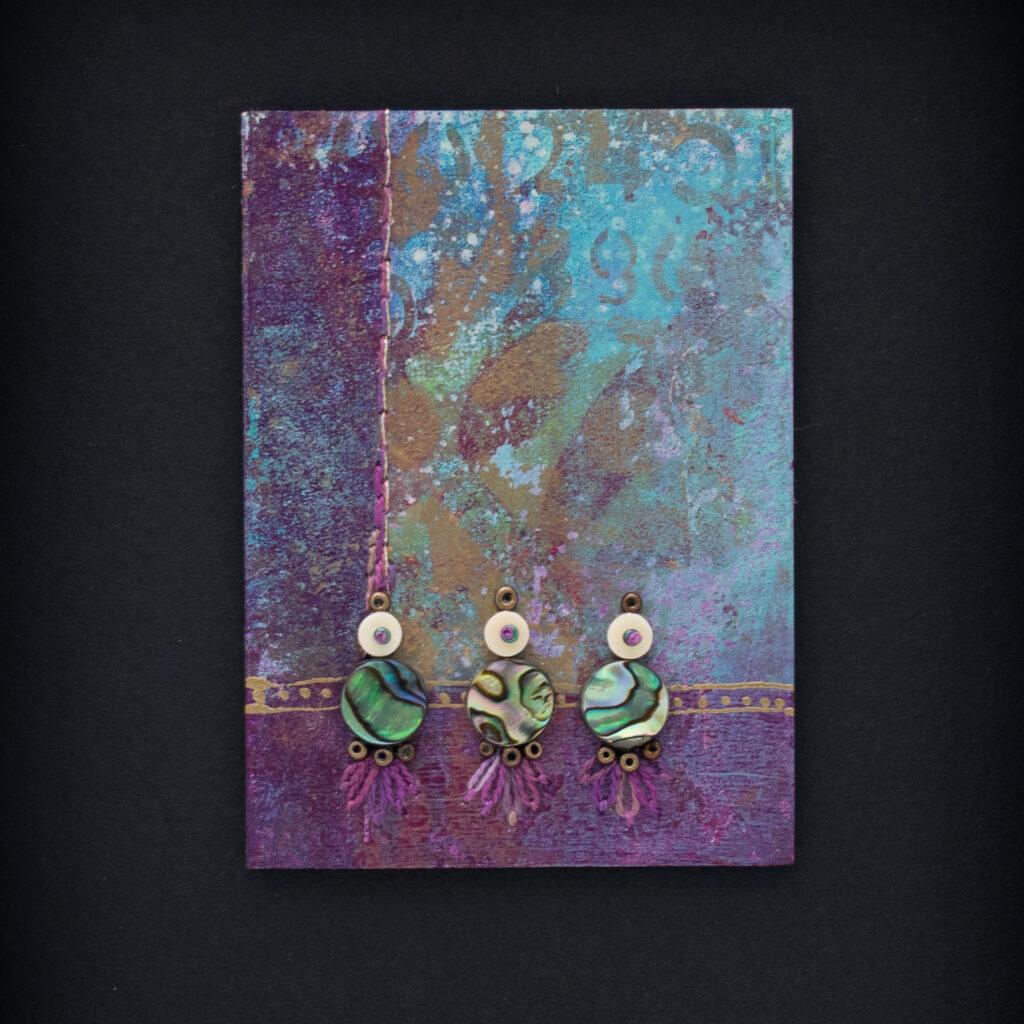 Dream Mini, No. 7 Acrylic and Mixed Media painting by artist Heather Elliott
