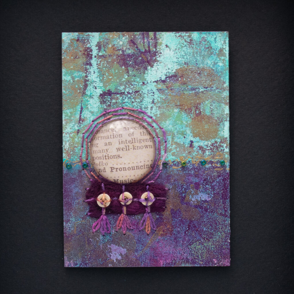 Dream Mini, No. 8 Acrylic and Mixed Media painting by artist Heather Elliott
