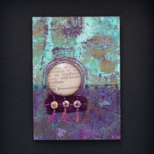 Dream Mini, No. 8 Acrylic and Mixed Media painting by artist Heather Elliott