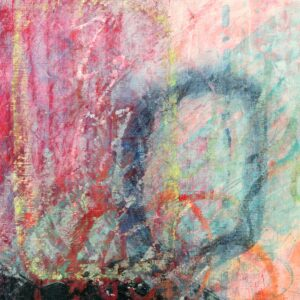 Abstract mixed media painting on paper, Holding Out Hope by artist Heather Elliott