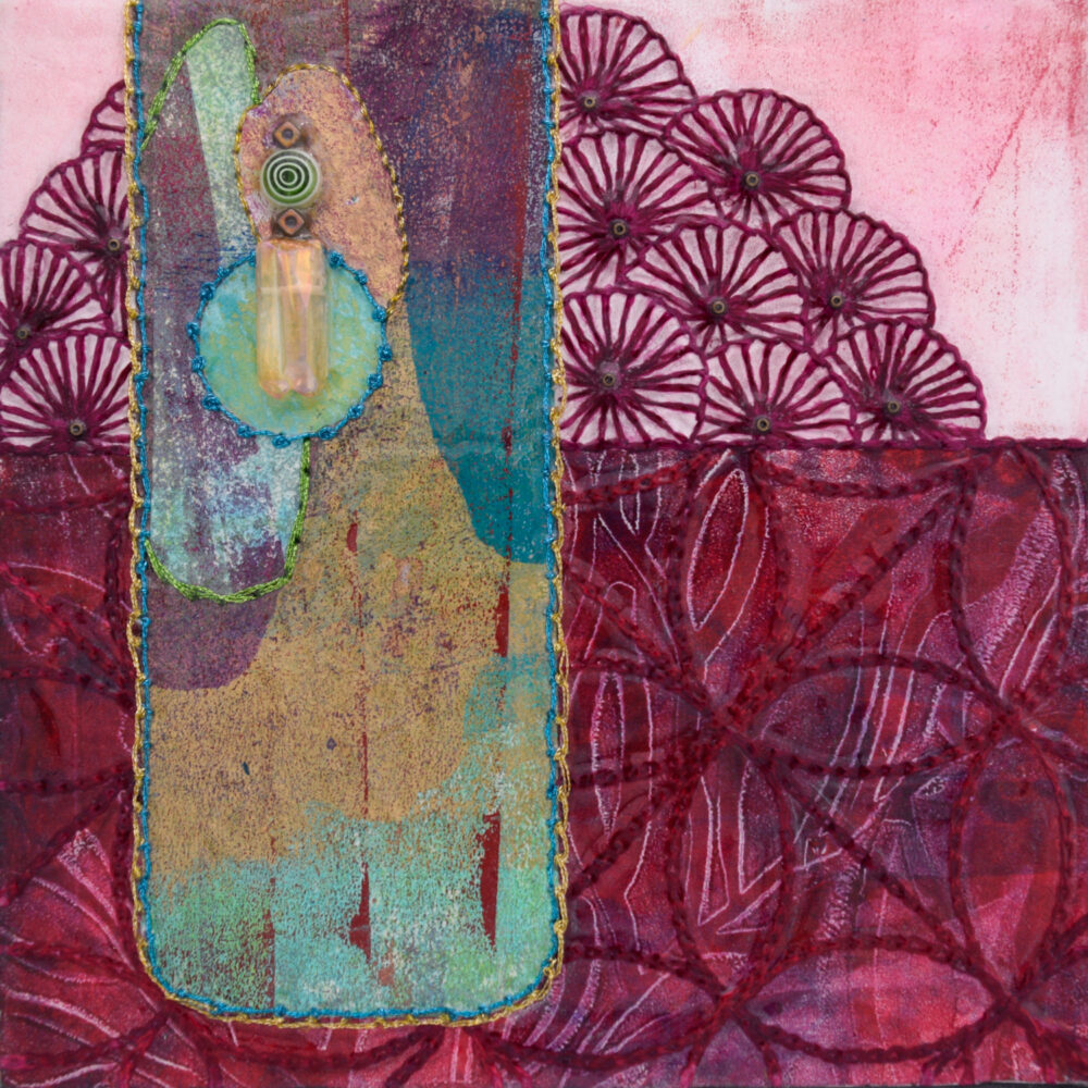 Seek Your Passion No. 2 Acrylic and Mixed Media painting by artist Heather Elliott
