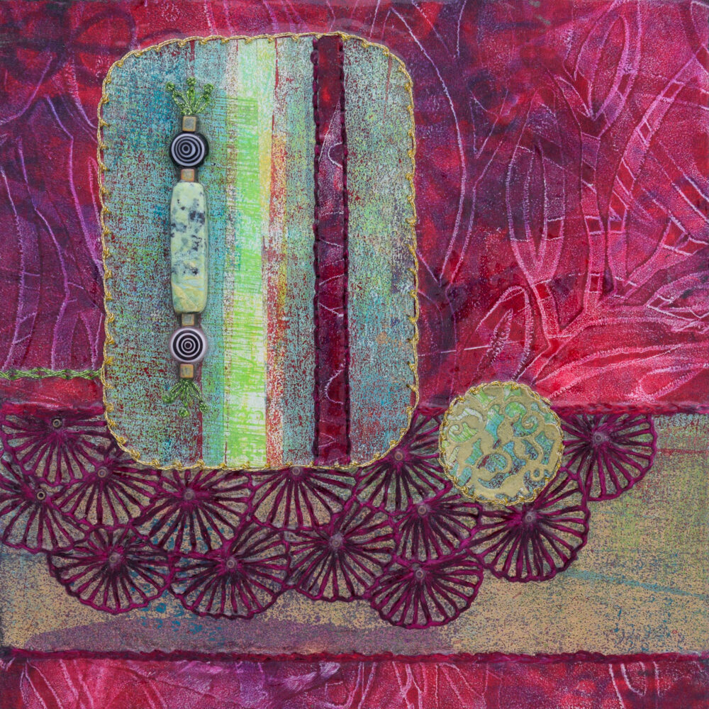 Seek Your Passion No. 3 Acrylic and Mixed Media painting by artist Heather Elliott