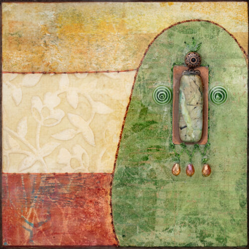 Cradle the Earth No. 3, acrylic and mixed media painting by artist Heather Elliott