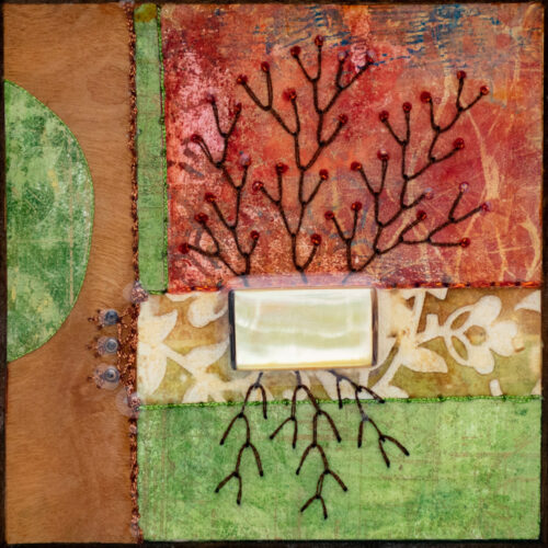 Cradle the Earth No. 7, acrylic and mixed media painting by artist Heather Elliott