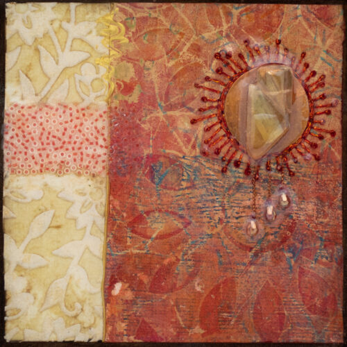 Cradle the Earth No. 10, acrylic and mixed media painting by artist Heather Elliott