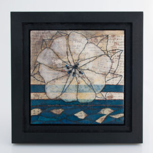 Image of Moonflower Nocturne No. 2, a mixed media painting by artist Heather Elliott