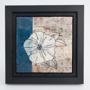 Image of Moonflower Nocturne No. 5, a mixed media painting by artist Heather Elliott