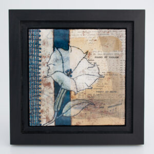 Image of Moonflower Nocturne No. 6, a mixed media painting by artist Heather Elliott