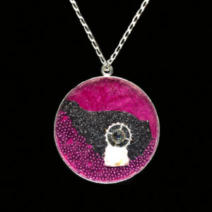 Image of Mixed Media Art Necklace No. 3, by artist Heather Elliott