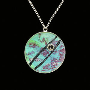 Image of Mixed Media Art Necklace No. 18, by artist Heather Elliott