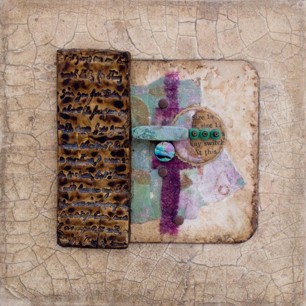Image of Alone Together No. 1, a mixed media painting by artist Heather Elliott