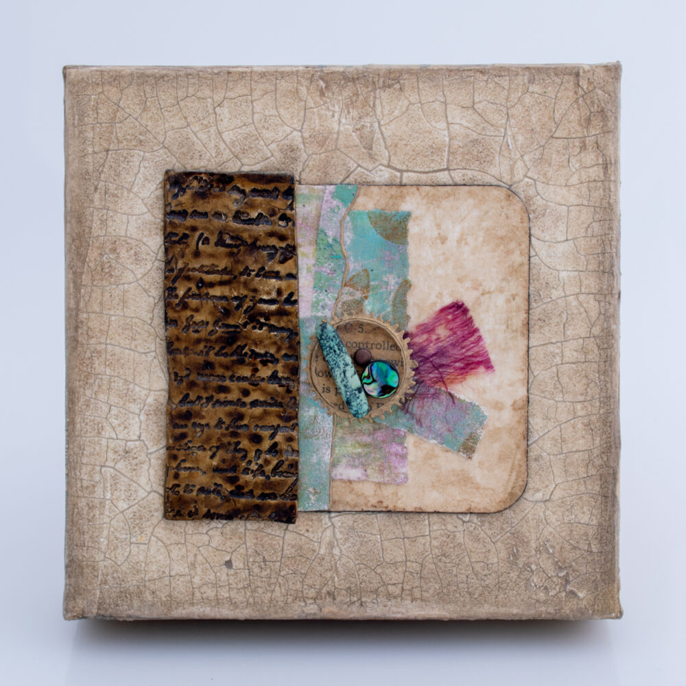 Image of Alone Together No. 2, a mixed media painting by artist Heather Elliott