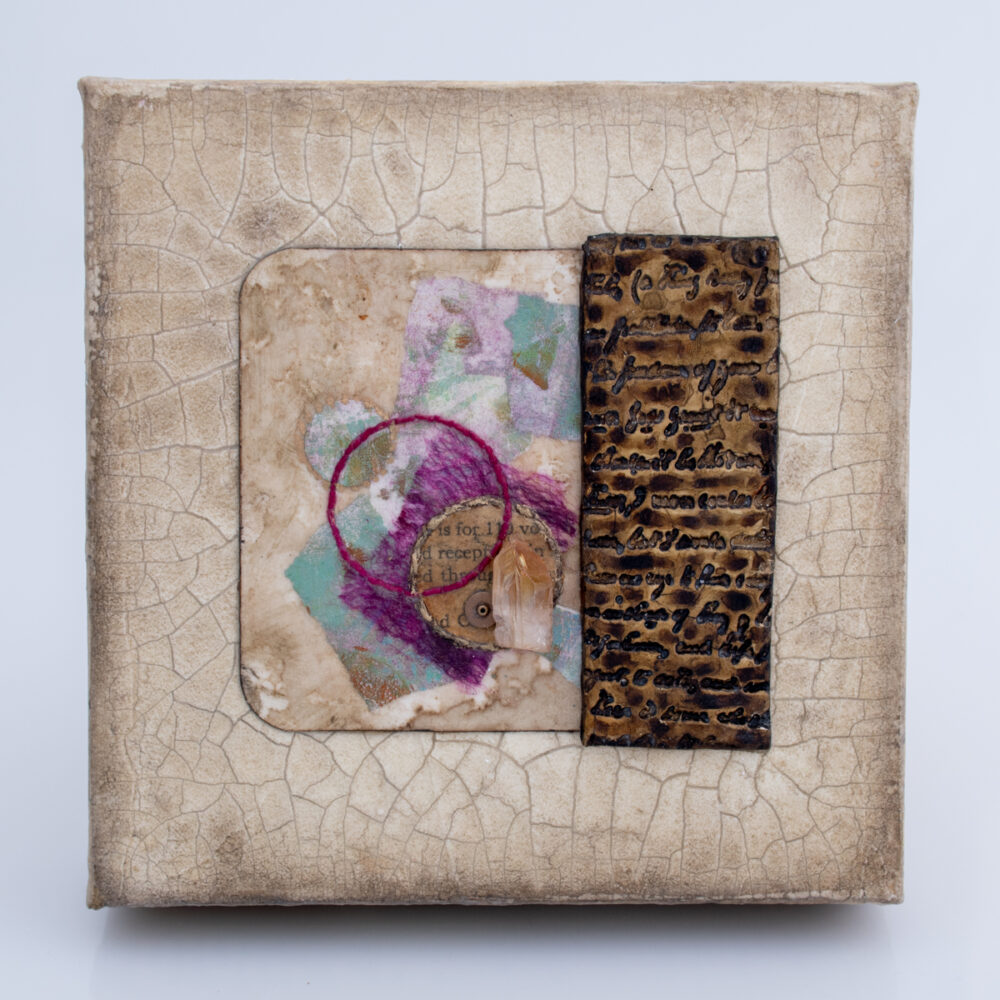 Image of Alone Together No. 3, a mixed media painting by artist Heather Elliott
