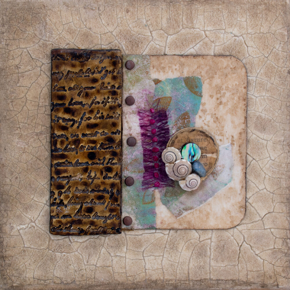 Image of Alone Together No. 5, a mixed media painting by artist Heather Elliott