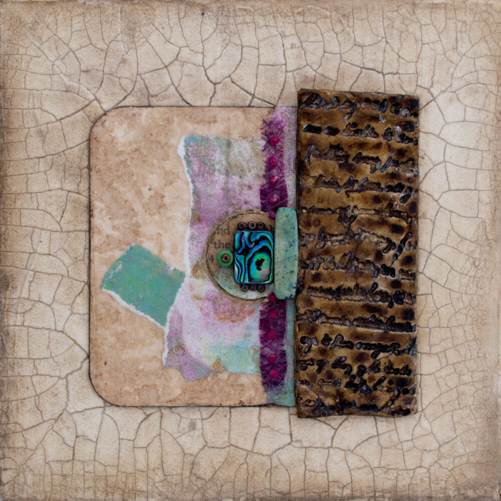 Image of Alone Together No. 6, a mixed media painting by artist Heather Elliott